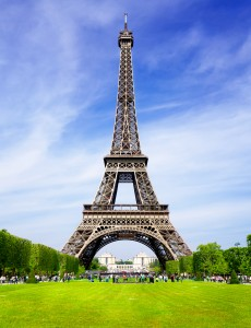 The Eiffel Tower in Paris, France is one of the main attractions for traveling to Europe.