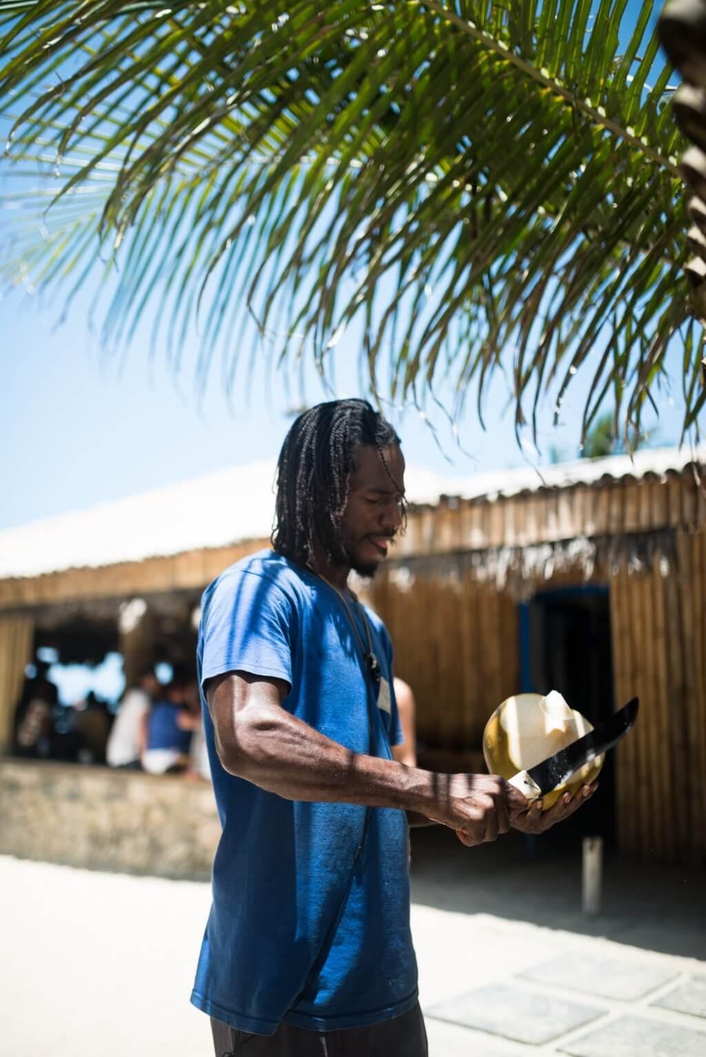 Jamaican serving Coconut