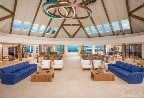 Sandals Montego Bay Open Air Lobby